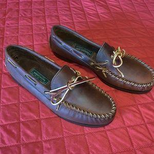 Polo by Ralph Lauren Shoes - SOLD! RALPH LAUREN Mens Brown Boat Shoes Size 9.5